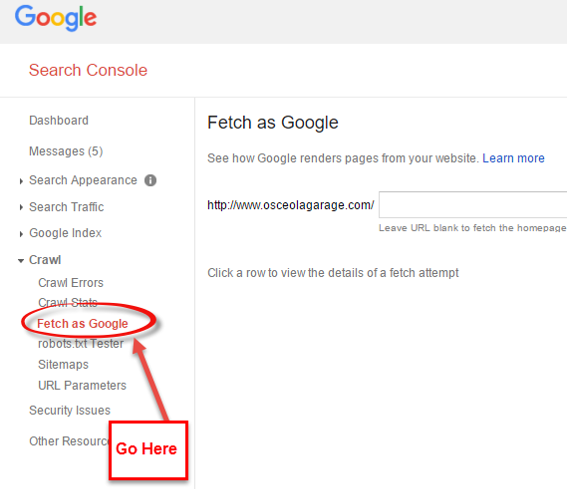 Google Fetch Instructions 1