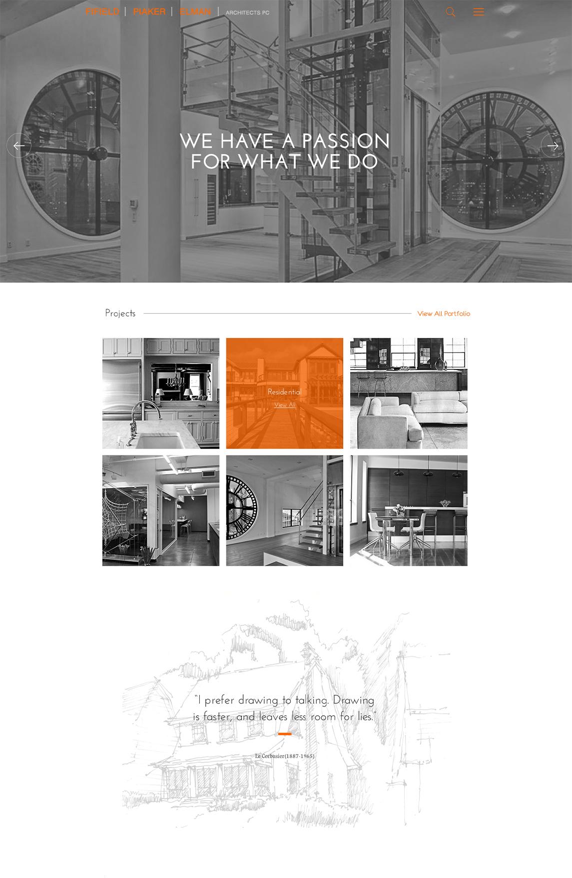 FPE Architects Tablet Design
