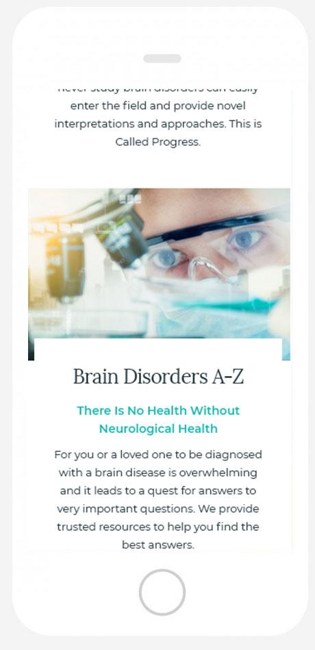 American Brain Society Mobile Design