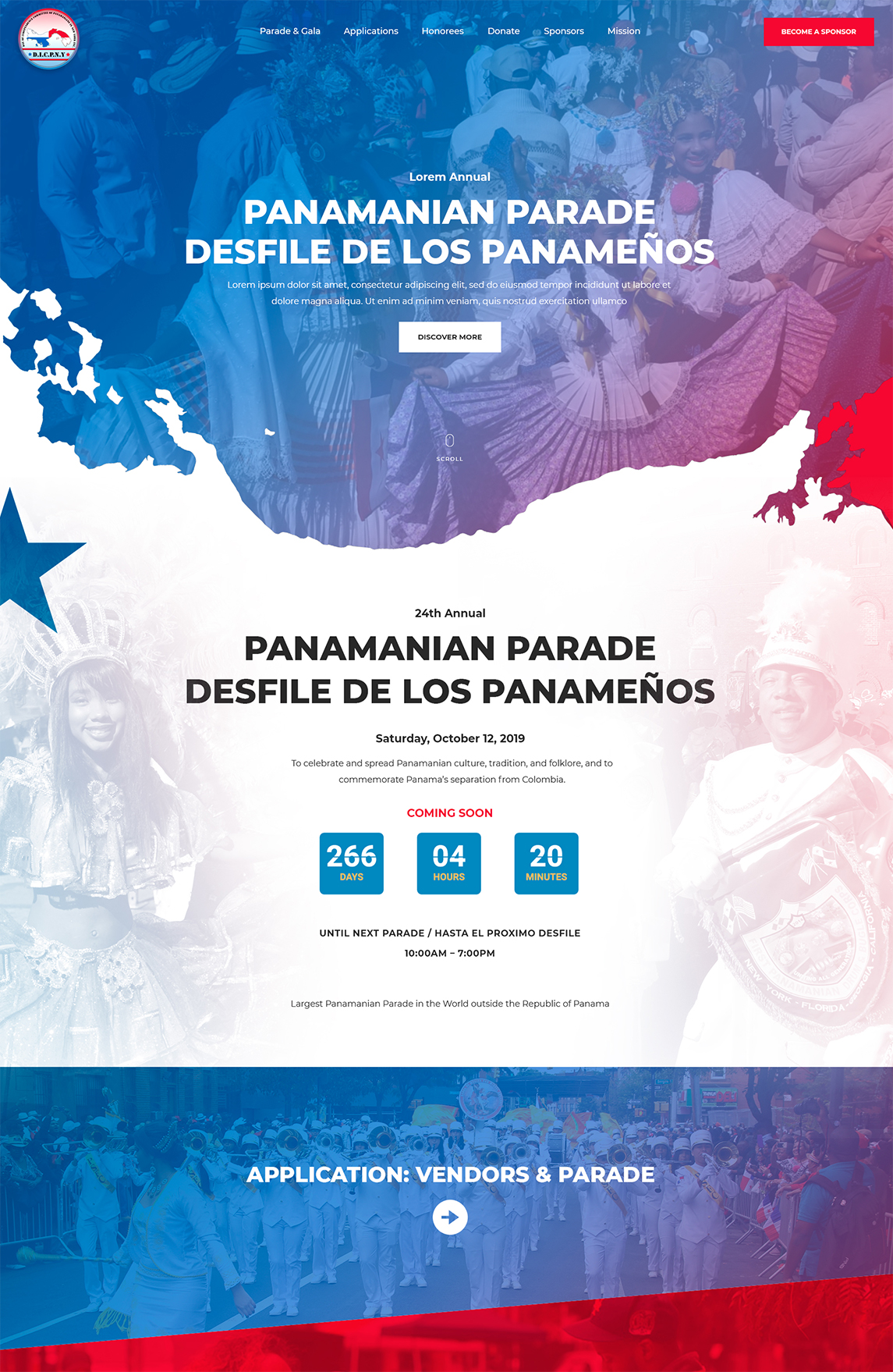 Panamanian Parade Tablet Design