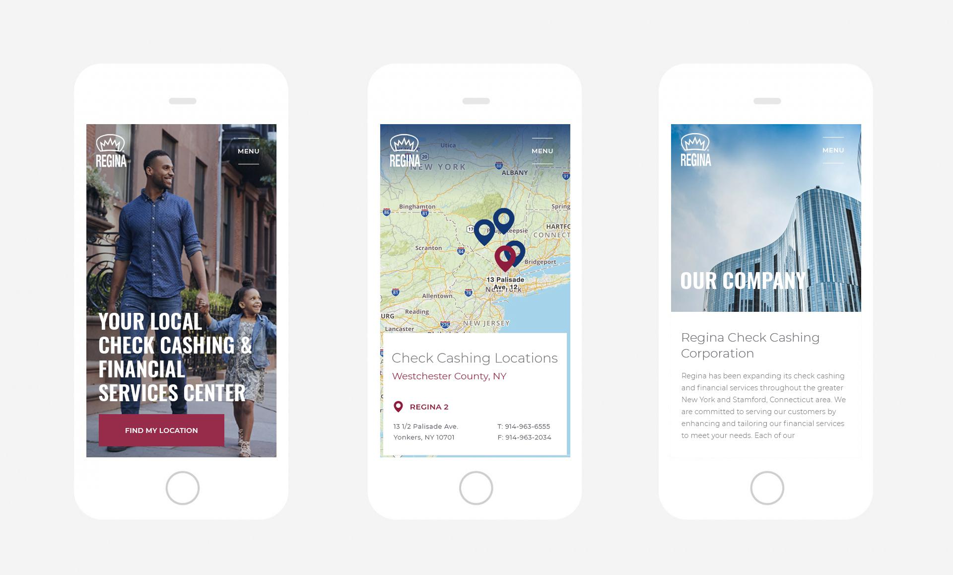 Regina Financial Services Mobile Design