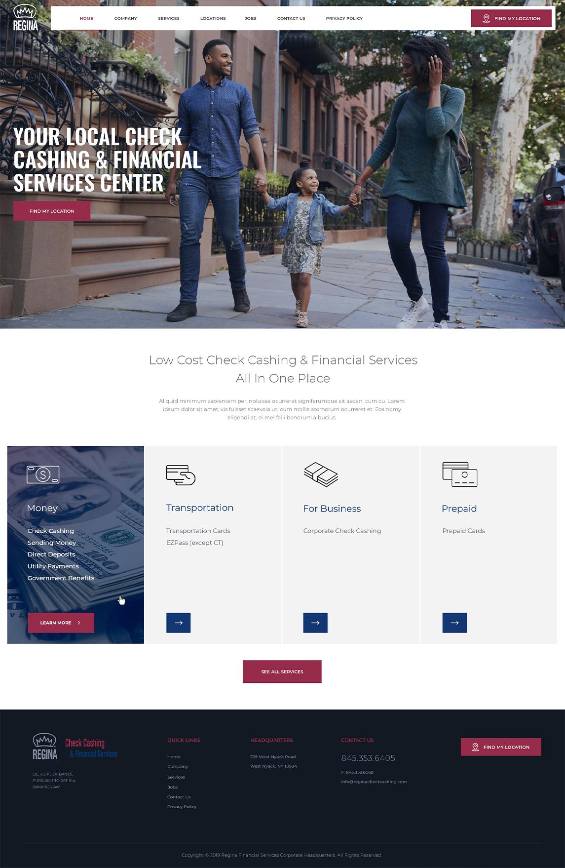 Regina Financial Services Tablet Design