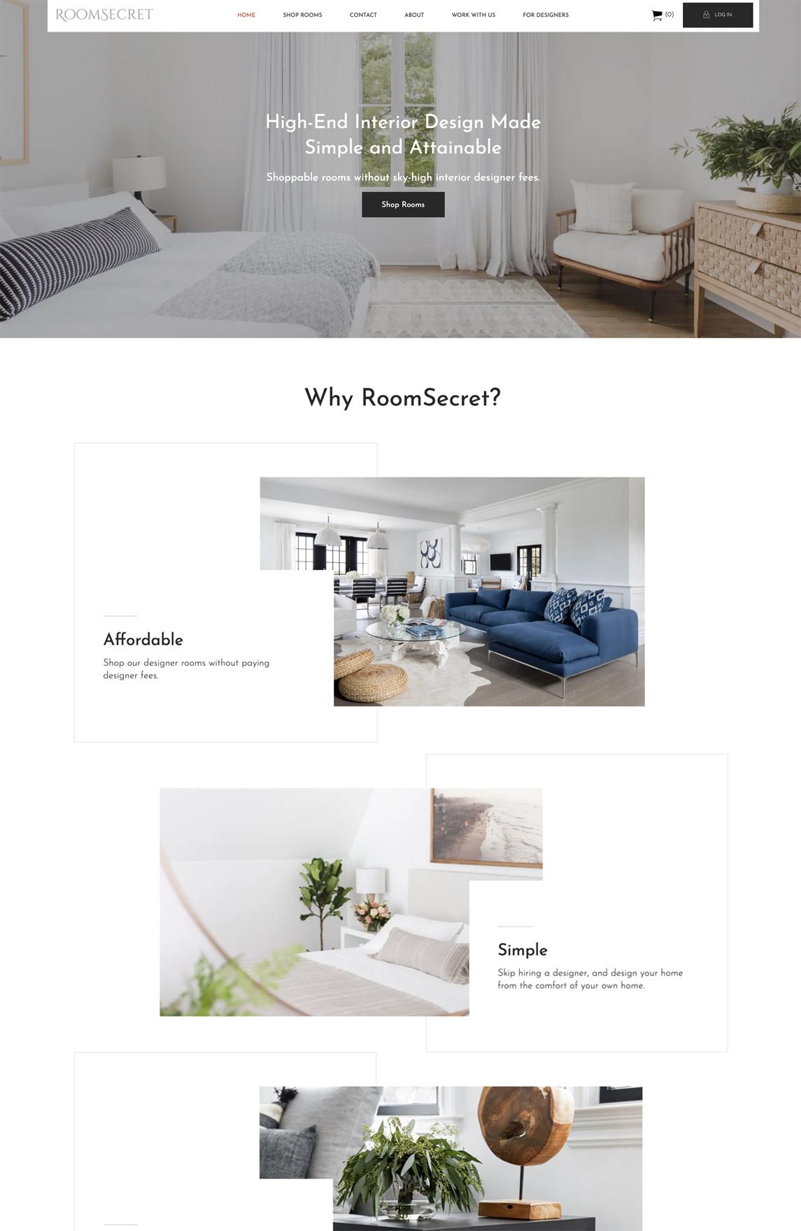 Room Secret Tablet Design