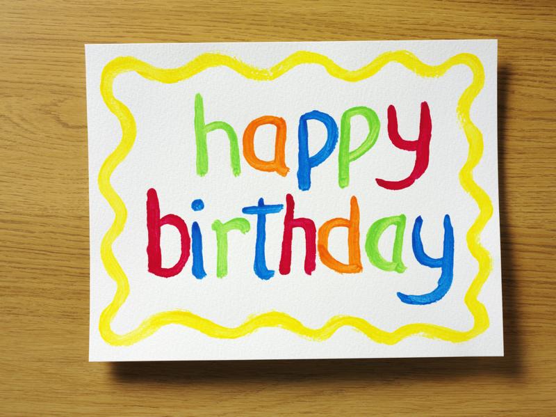 Birthday Card to Customers